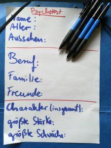 Seminar kreatives Schreiben Protagonisten charakterisieren
